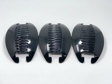 3set Banana Comb Clip Thick Hair Riser Claw Interlocking Jaw Extra(Black).