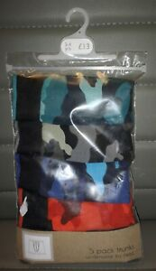 BNWT NEXT BOYS 5 PACK MULTI CAMO TRUNKS / BOXERS AGE 3 - 4 Years