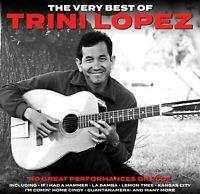 TRINI LOPEZ * 40 Greatest Hits * NEW 2-CD Set * All Original Recordings