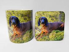 Bavarian Mountain Hound Dog Mug and Coaster Set