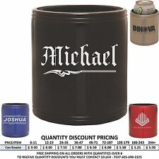 Personalized Steel Can Koozies Custom Engraved Valentine's Day Gifts For Him Her