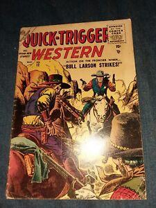 Quick Trigger Western 12 john severin cover golden age premarvel atlas comics