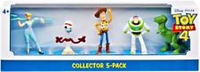 Disney Pixar Toy Story 4 Figurines Set of 5 Woody, Bo Peep, Buzz, Rex, & Forky