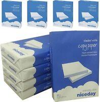 A4 80 GSM WHITE PLAIN COPIER PRINTER SCANNER COPY PAPER OFFICE 1-6 REAMS OF 500