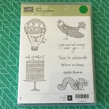 Stampin' Up!® Retired TIME TO CELEBRATE Stamp Set Of 8 CLEAR MOUNT