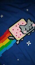 nyan cat rainbow t shirt cute L punk rock emo funny