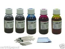 Refill ink kit for HP 61 61XL Deskjet 3050 1000 5X4oz/S