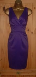 Purple satin pencil wiggle galaxy pleated smart cocktail evening dress sz 18 20