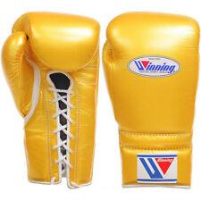 Winning Boxing gloves Lace up 12oz Gold from JAPAN FedEx tracking Authentic -J