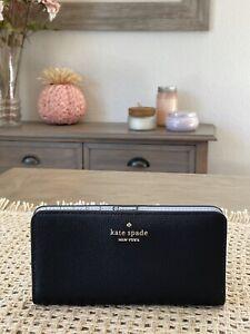 kate spade new york Darcy Black large slim bifold wallet
