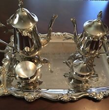 COFFEE AND TEA SET Silver Plated, 5 piece