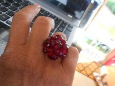 BEAUTIFUL ORELLIA RED CLARET/RUBY COCKTAIL DRESS/EVENING WEAR RING, PRETTY, ADJ