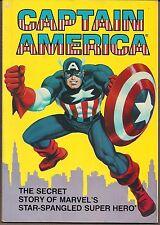 CAPTAIN AMERICA SECRET STORY IDEALS/MARVEL 1981 SOFTCVR TPB TEXT & COMIC COMBO