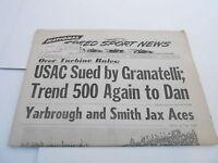 JAN 24 1968 NATIONAL SPEED & SPORTS NEWS car racing newspaper -  GRANATELLI SUES