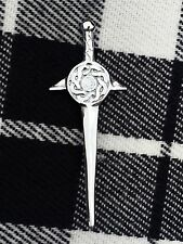 Scottish Celtic Swirl Sword Kilt Pin Shield Shape/Celtic Knot Kilt Pin/Kilt pins