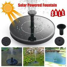 LED Lights Solar Powered Fountain Water Pump Night Floating Garden Bird Bath