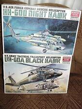 New ListingLot: 2 1/48 Black Hawk Night Hawk Helicopters Hh-60D Uh-60A Usaf Army 1612 1613