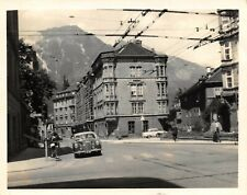 Real Photograph from July 1958 of Innsbruck Austria 122x97mm, Classic Cars 99X