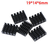 5pcs 19*14*6mm Black Slot Aluminium Heatsink High-quality Radiator Gn