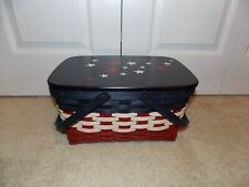 * Longaberger * 2011 Medium Market Combo (Basket + WoodCrafts Lid) Americana