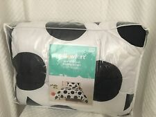 New Pillowfort Bedding Comforter Pillow Sham Set Circle Panda Black White Twin