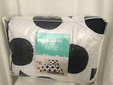 New Pillowfort Bedding Comforter Pillow Sham Set Circle Panda Black White Twin