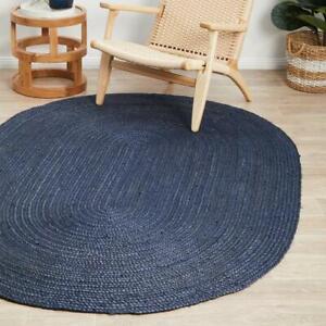 oval navy blue jute rug handmade braided rug kitchen rug oval jute rug rag rug
