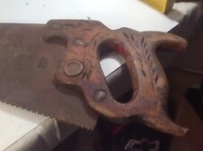 OLD VTG. SUPERIOR  HAND SAW STAMPED * WOODWORKING CARPENTRY TOOL SAWS