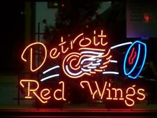 "New Detroit Red Wings Neon Light Sign 24""x20"" Lamp Poster Real Glass Beer Bar"