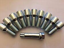 10 X Sintonizador M14X1.25 50 mm largo + Llave Rosca Pernos Llantas de aleación cabe Mini ver lista