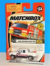 Matchbox 2002 Great Outdoors #24 Ford Explorer Sport Trac White