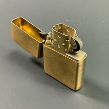"""2015 ZIPPO USA MADE """"SOLID BRASS"""" CIGARETTE LIGHTER *EXCELLENT CONDITION*"""