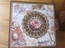 Vintage Photo Album Memory Book Keepers Scrapbooking Mini Album Handmade Rose