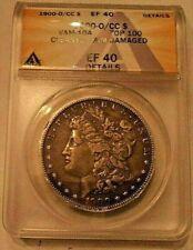 1900 O/CC $1 Morgan Silver Dollar ANACS EF 40 Details