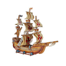 Pirate Ship 3D Building Toy 79 Piece Model DIY Educational Fun Build Hobby Kit