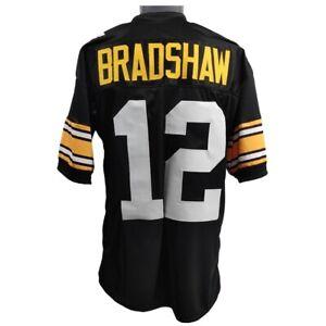 🔥 Terry Bradshaw UNSIGNED CUSTOM Sewn Stitched Black Jersey M, L, XL, 2XL, 3XL