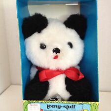 The Rushton Company Black White Panda Teddy Bear Teeny Stuff Plush Vtg Stuffed