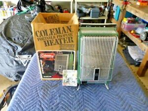 VINTAGE COLEMAN HEATER MODEL 5445 11/82  WITH BOX  AND INSTRUCTIONS