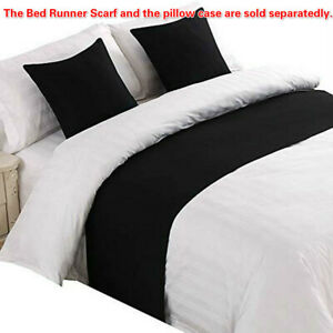 Bed Runner Cotton Blend Bed Scarf or Cushion Cover for Bedroom Hotel WeddingRoom