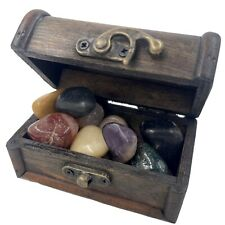 More details for tumblestone treasure chest gift of crystals stones rs8700 ✔ukseller✔100%genuine