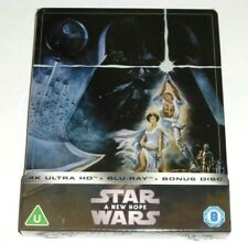 STAR WARS : A NEW HOPE - 4K Ultra HD + BLU RAY ( UK STEELBOOK ) LTD ED *In Stock