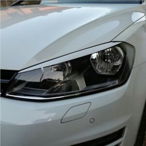 Scheinwerferblenden für VW GOLF 7 VII Böser Blick Spoiler Blende Eyebrow weiß