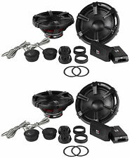 "2) Pairs MB Quart DC1-216 6.5"" 180w 2-Way Component Car Speakers+Tweeters+Xovers"
