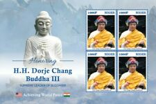 More details for niger buddhism stamps 2020 mnh dorje chang buddha iii famous people 4v m/s