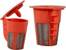 Keurig 2.0 K-Carafe Orange Refillable Coffee 4 Cup Filter K-Cup Reusable 2 Pack