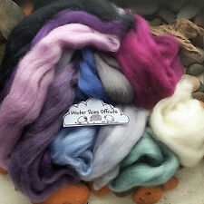 100g Wool Roving off Cuts / Merino, Corriedale British, Natural, Needle felting