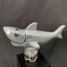 Lego Shark Dark Bluish Gray with Gills and Printed Black Eyes 14518c01pb01 EUC