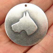 925 Sterling Silver Antique H. Boutell Doberman Pinscher Dog Pendant