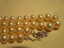 AMAZING Vintage 14K Gold & Diamond GENUINE AAA QUALITY SOUTH SEA Pearl Necklace