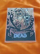 Walking Dead Hand Drawn Sketch Card 1/1 Signed Jeremy R Scott 2013